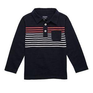 NWT! Crown & Ivy Boys Pocket Polo Shirt